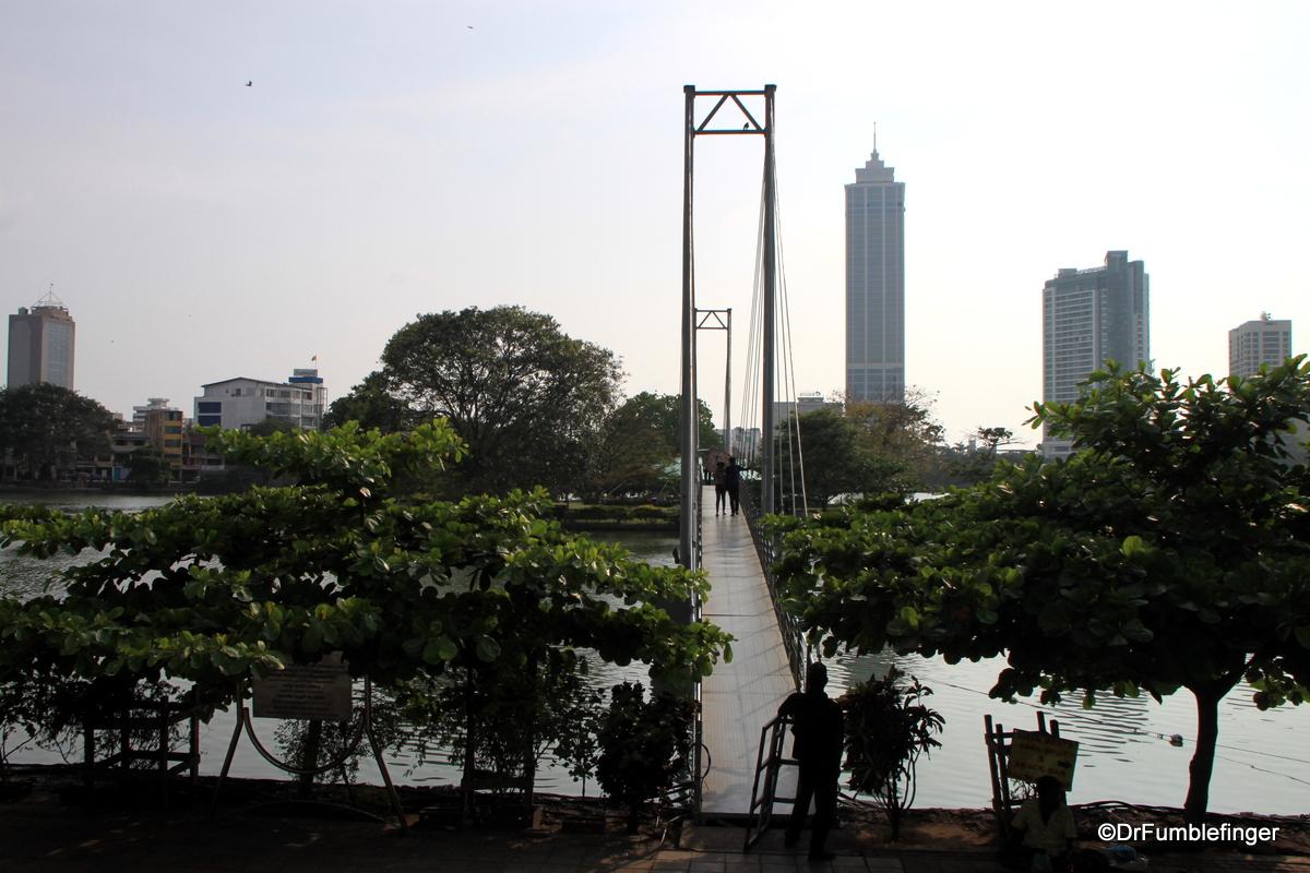 Bridge to island, Beira Lake, Colombo