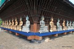 Exterior Buddhas, Seema Malaka Temple, Colombo