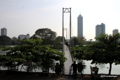 Bridge to island, Beira Lake, Colombo