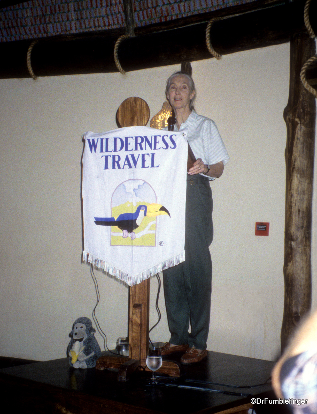 Jane Goodall at Serengeti Serena Lodge