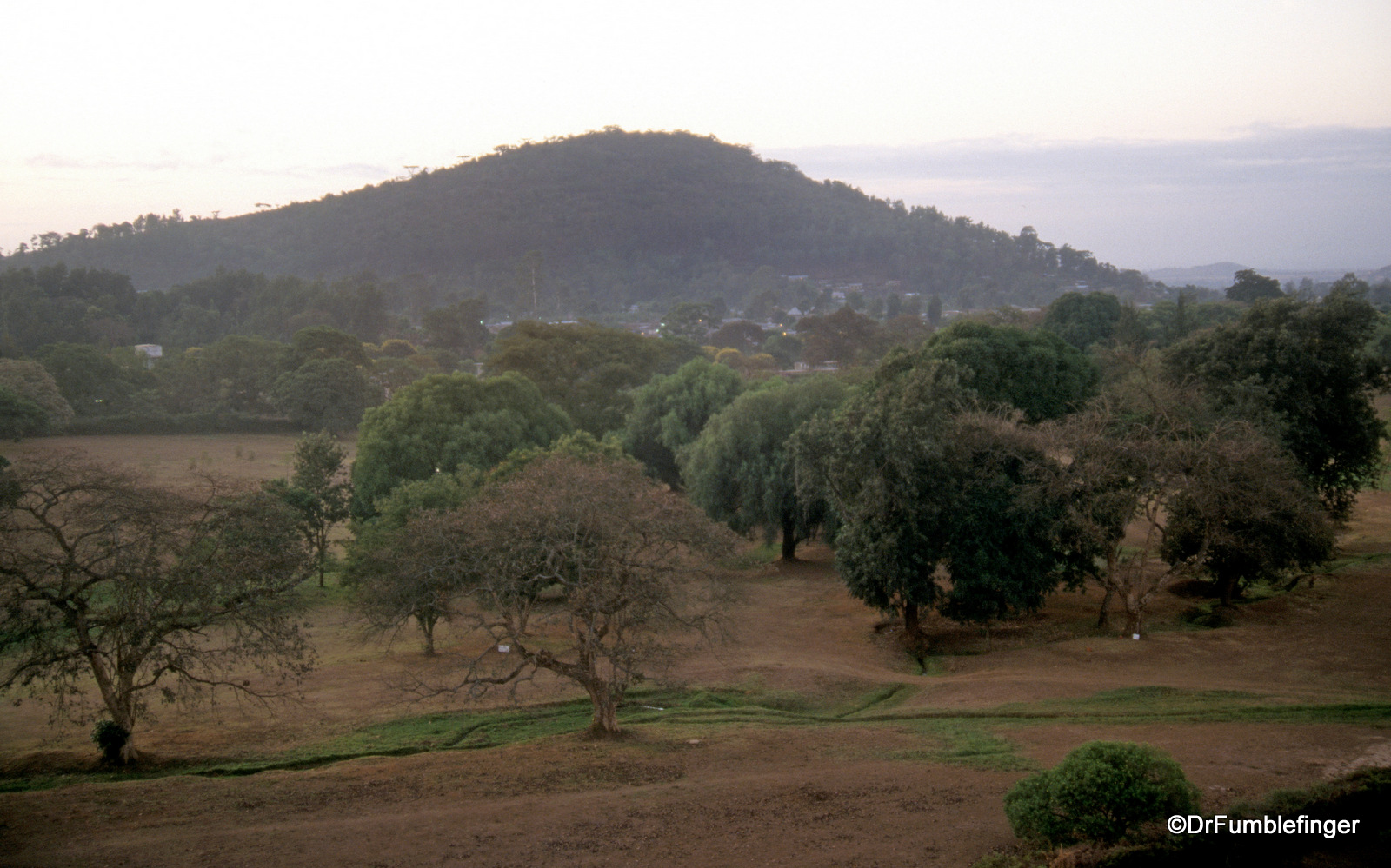 First dawn view of Arusha after nighttime arrival