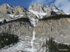 Frozen waterfall, Cascade Mountain, Banff National Park