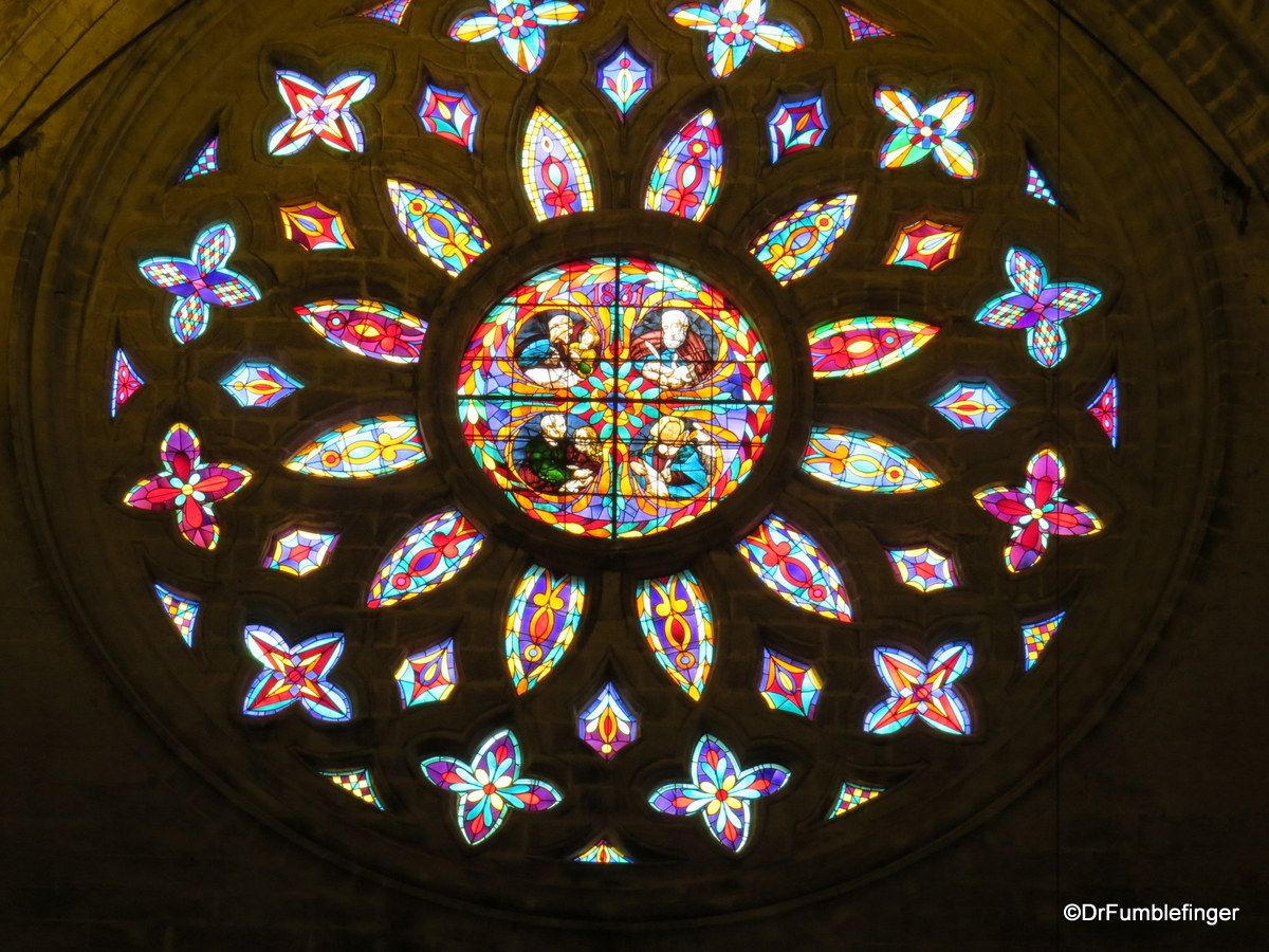 Stained glass window, Seville Cathedral