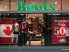 Roots is a popular Canadian clothing store, Toronto