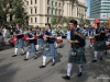 Bagpipers leading the parade
