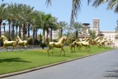 Driveway of the Jumeirah al Qasr hotel
