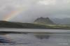 Rainbow over lagoon