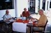 Sir Arthur with friends Hans and James Spain