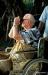 Arthur C. Clarke on Hikkaduwa beach