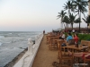Colombo, sunset at the Sea Spray restaurant