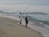 Fishing on the beach, Galle Face Green