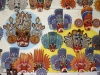 Sri Lanka masks, hand carved and painted, for sale at souvenir shop near Kandy