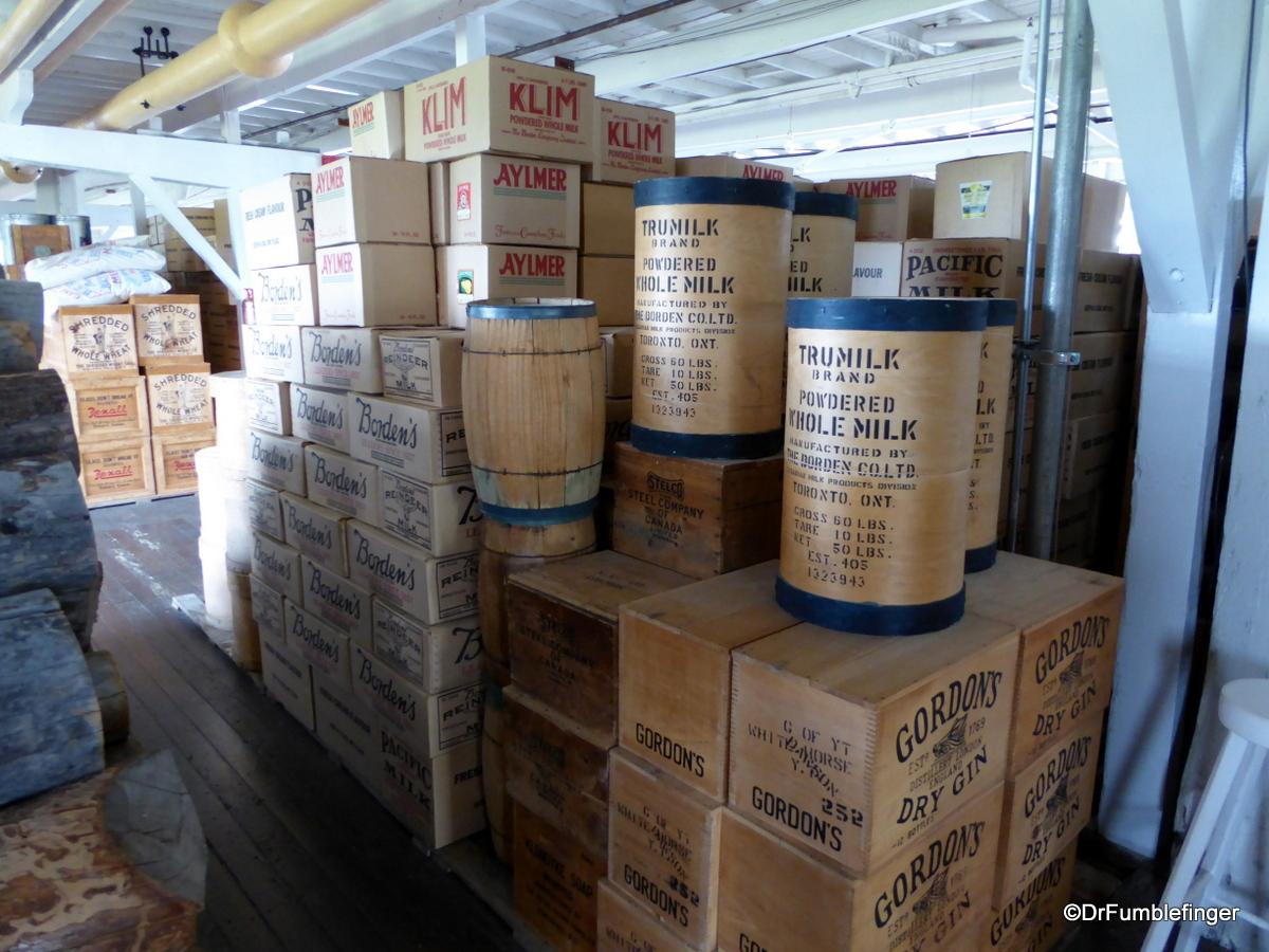 SS Klondike Whitehorse, cargo