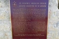 Historic marker, St Andrew's Anglican Church, Manitoba