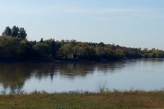 Red River near St Andrew's Anglican Church, Manitoba