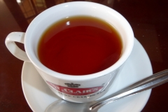 A beautiful cup of bright orange pekoe,  St. Clair's Tea Center