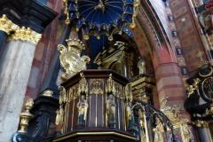 Pulpit, St. Mary's Basilica, Krakow
