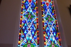 Stained glass, St. Mary's in the Mountain, Virginia City