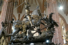 Statue of St. George slaying the Dragon, Stockholm Cathedral