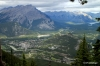 View of Banff. Cascade Mountain in background.