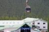 Gondola lift, lower terminus