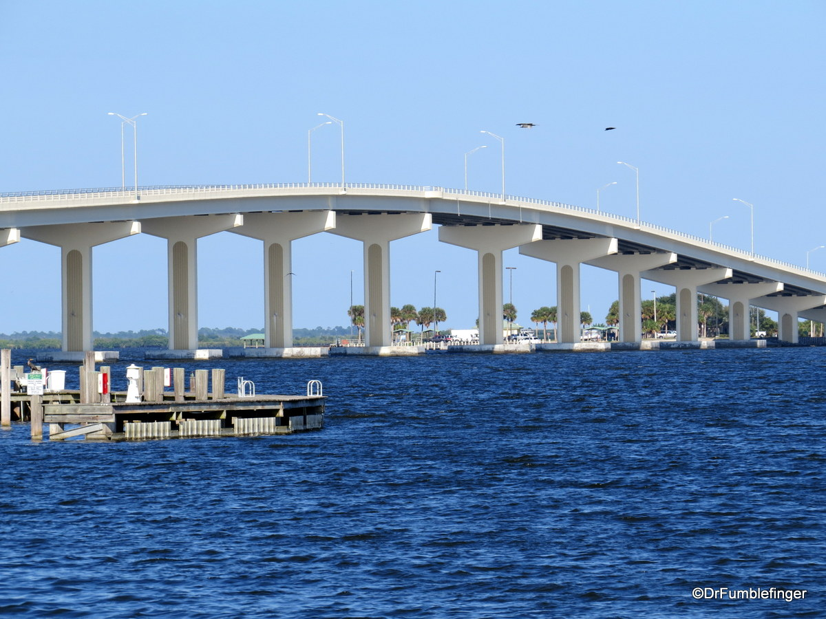 View of Bridge to Merritt Island and Indian River from Space View Park, Titusville