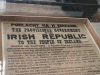 Rare copy of the Proclamation of the Irish Republic