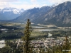 View of Banff and Vermillion Lakes