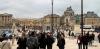 Throngs of people arriving at Versailles