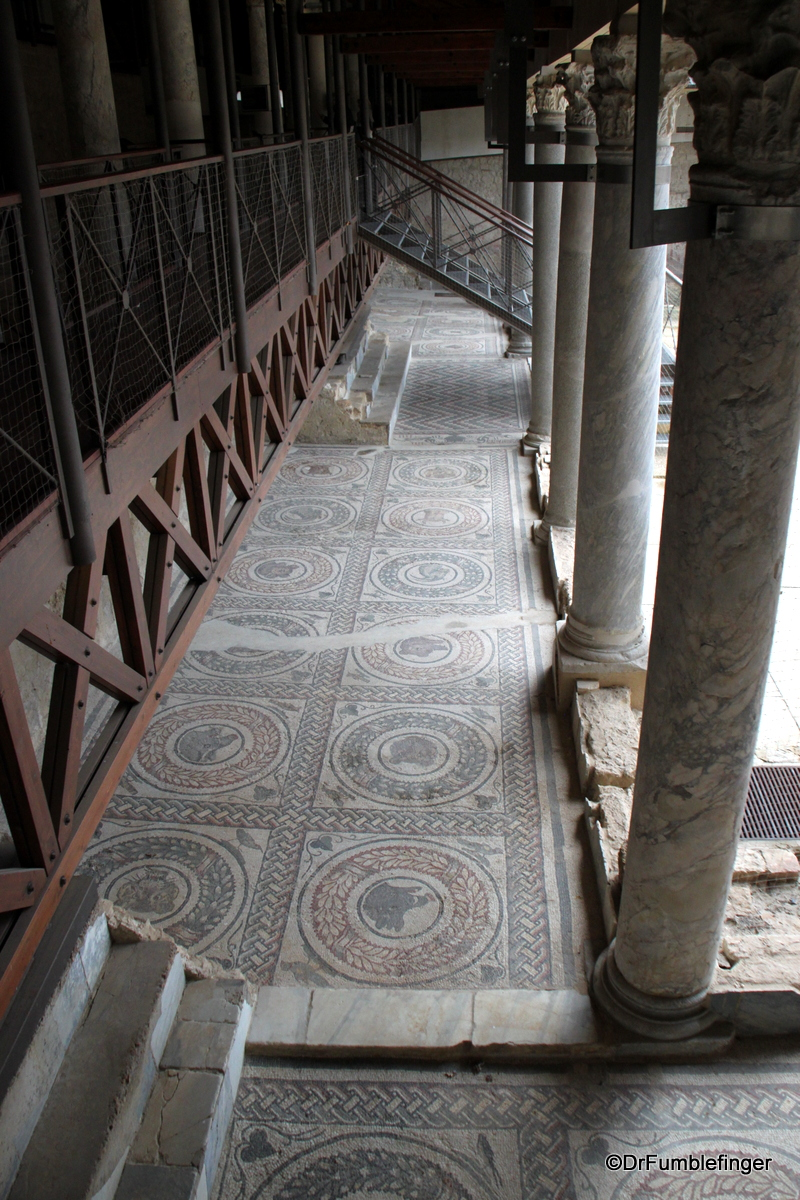 Elevated walkways over Mosaics,  Villa Romana del Casale