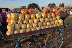 Food vendor at the Wagah Border crossing