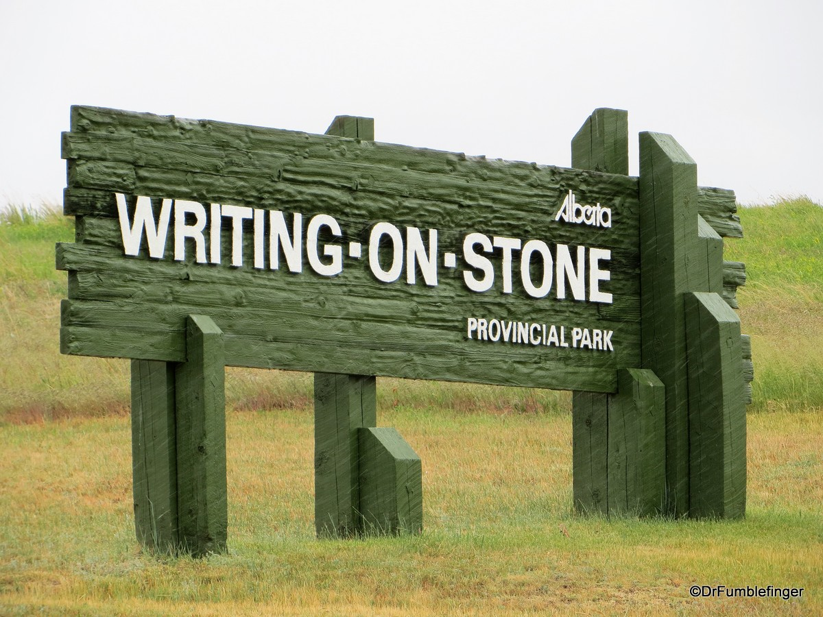 Entrance, Writing on Stone Provincial Park