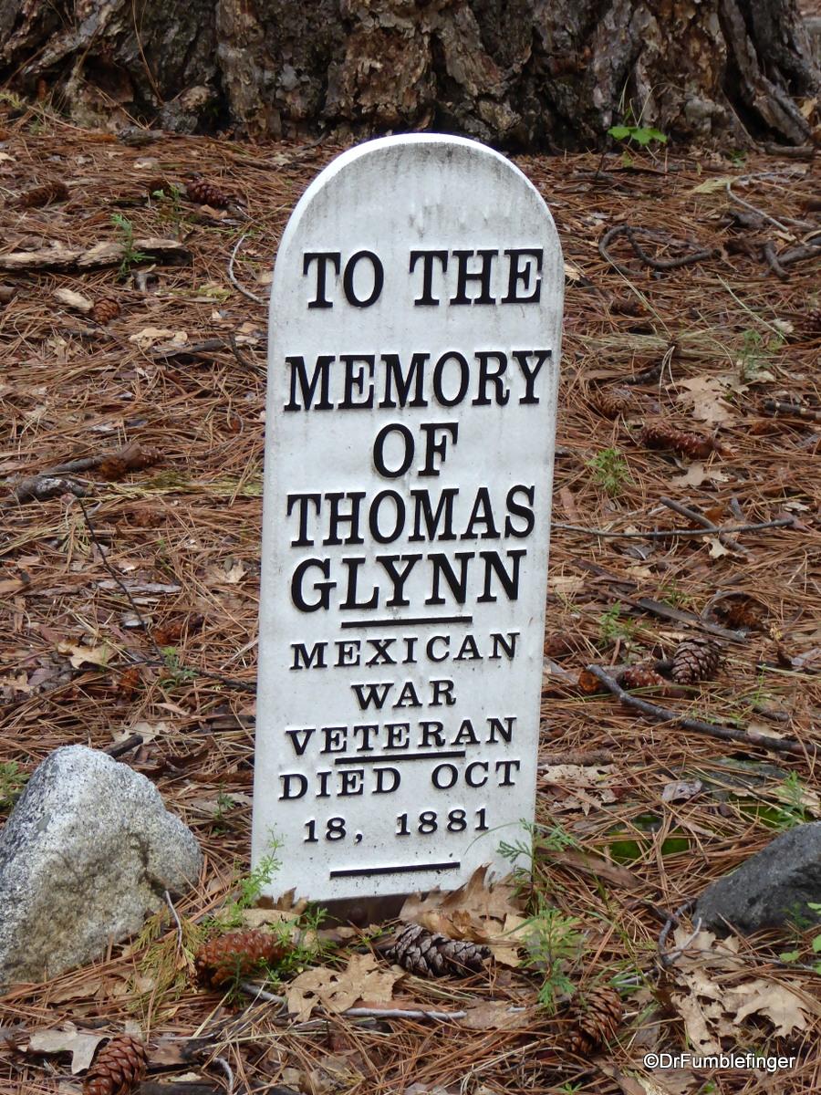 Pioneer Cemetery, Yosemite National Park.  Mr. Glynn was a currier and war veteran