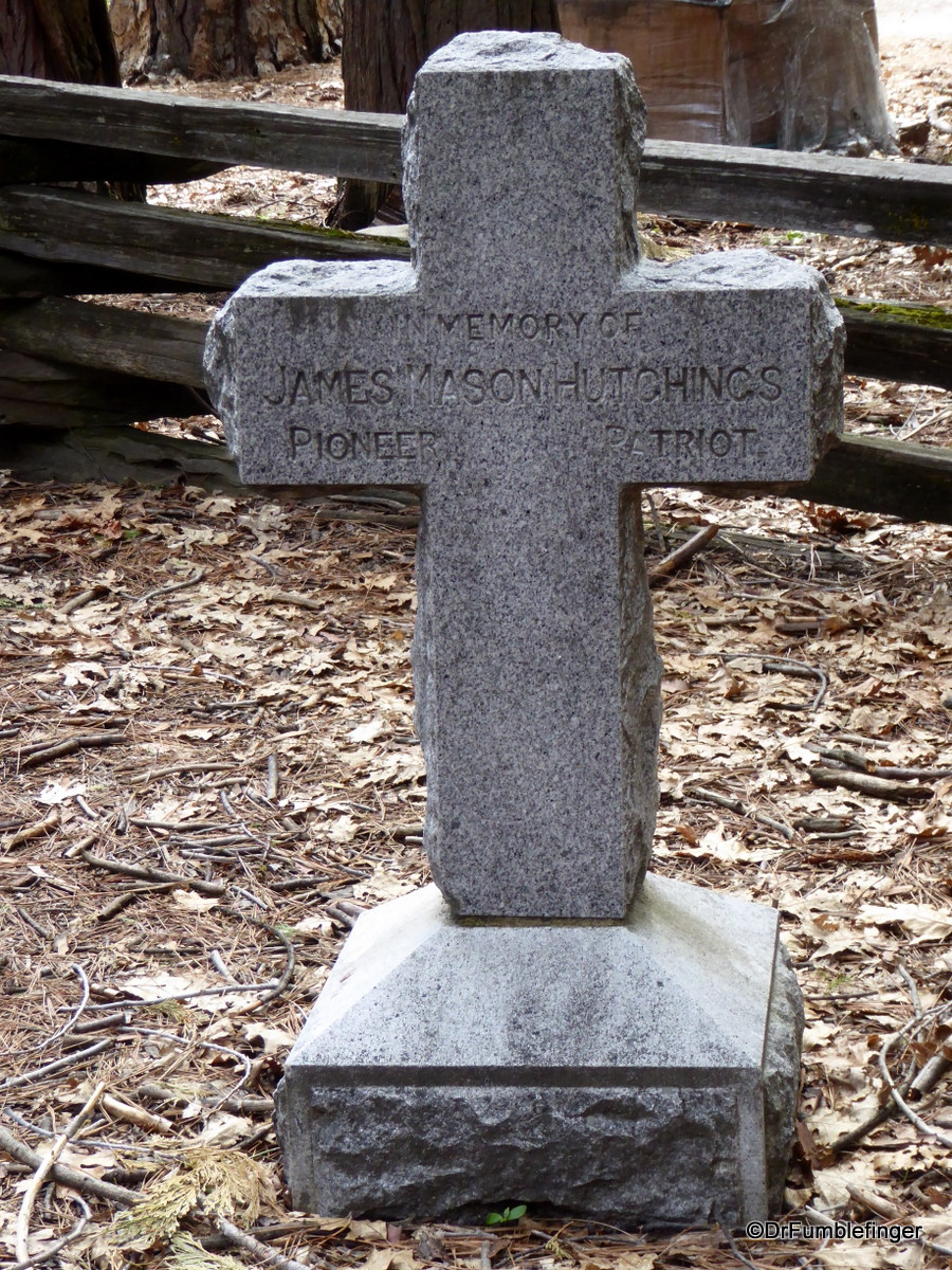 Pioneer Cemetery, Yosemite National Park.  Mr. Hutchings was from England -- a gifted writer who shared in words the beauty of Yosemite