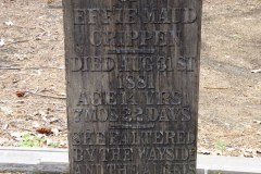 Pioneer Cemetery, Yosemite National Park.   Effie was the daughter of the sheriff of Mariposa County