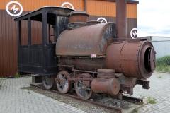 Yukon Transporation Museum, Whitehorse.  Portland Locomotive, 1888