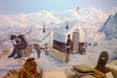Yukon Transporation Museum, Whitehorse.  Building boats at Lake Bennett
