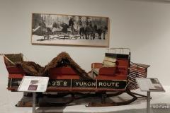 Yukon Transporation Museum, Whitehorse.  Winter sled