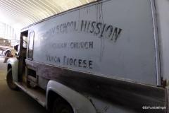 Yukon Transporation Museum, Whitehorse.  Church Mini-bus