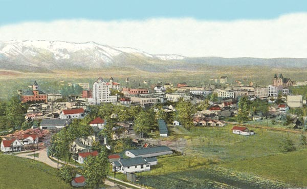 1918 Postcard view of Baker City