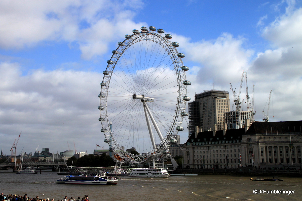 The London Eye, viewed from Westminister Bridge