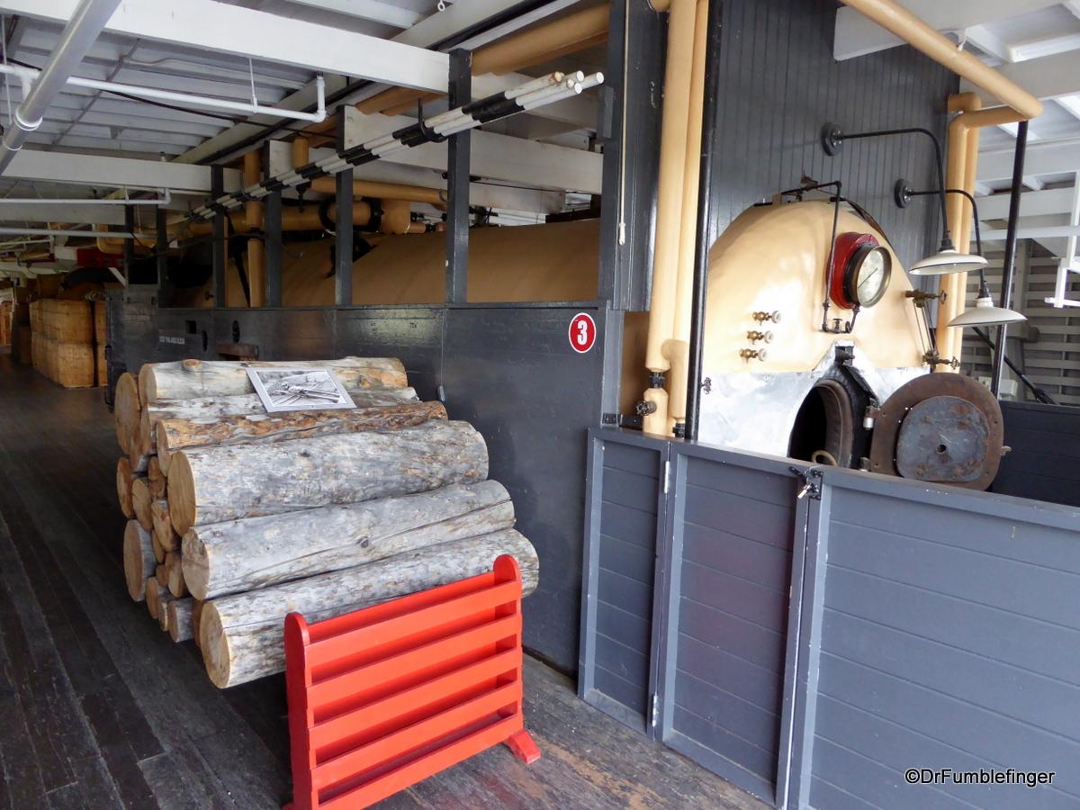SS Klondike's boiler room