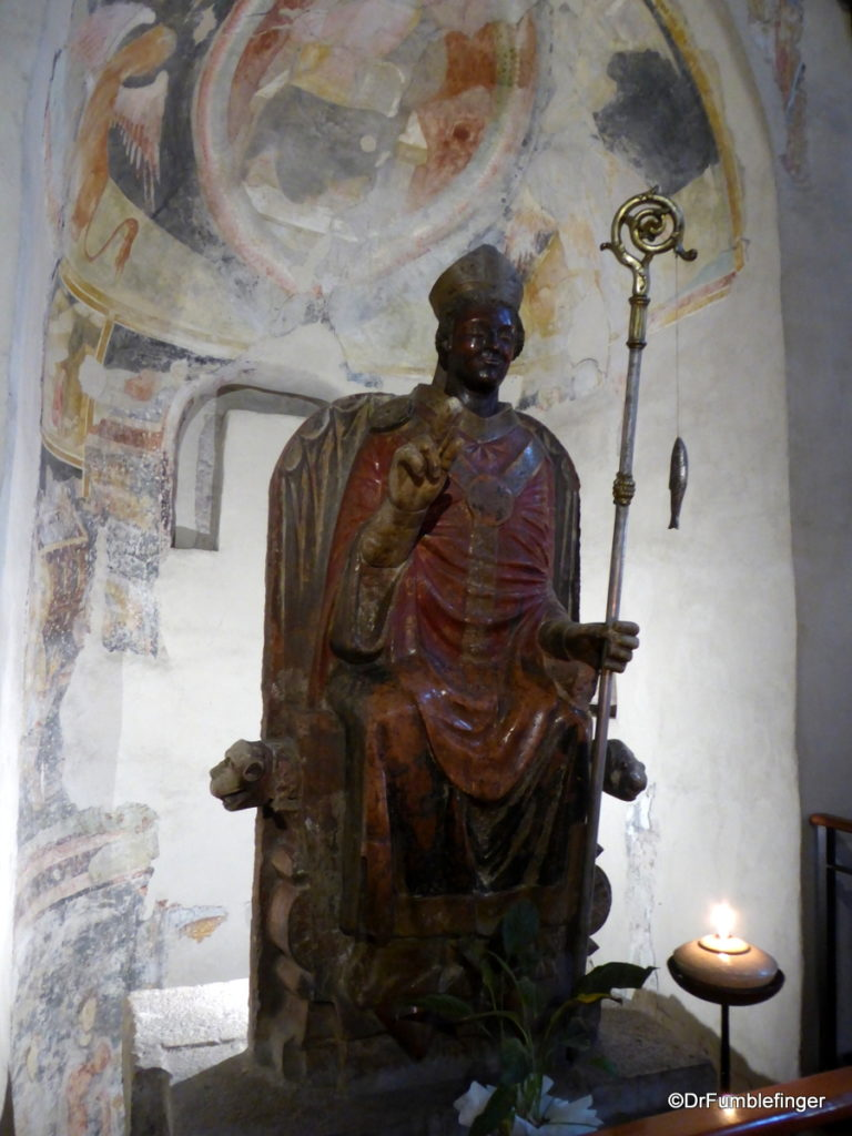 Church of San Zeno, Verona. Laughing San Zeno statue from the 13th century