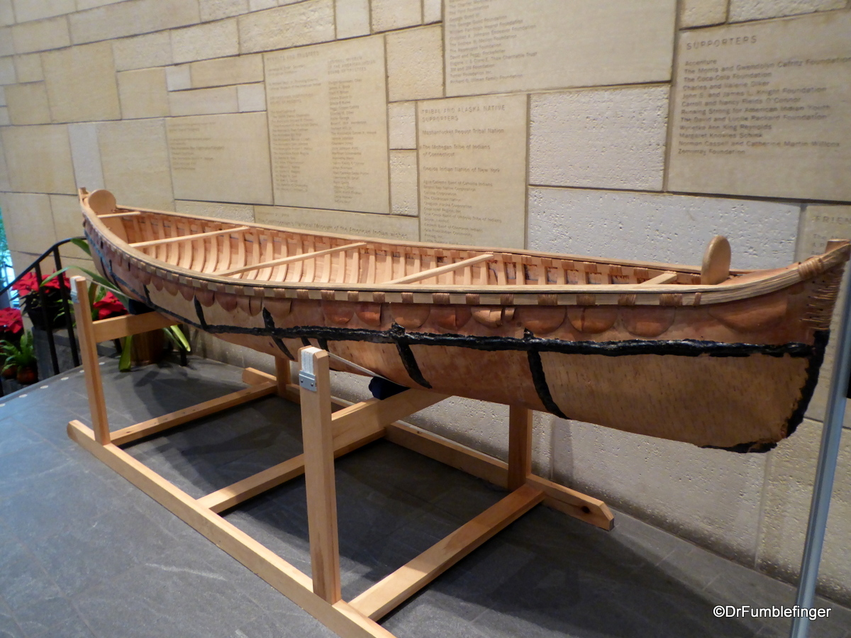 Birch bark canoe, Museum of the American Indian