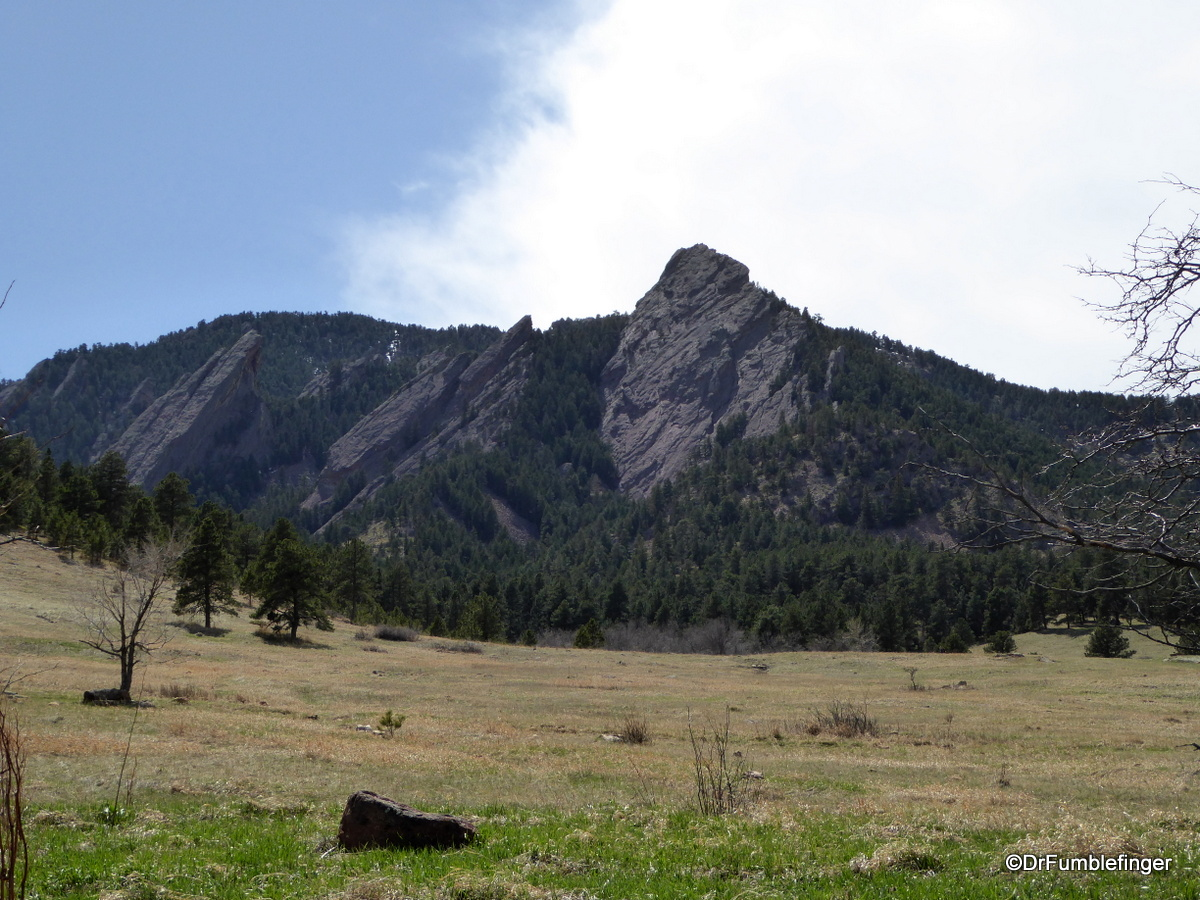 The Flatirons, as viewed from Chautauqua National Historic Landmark, Boulder