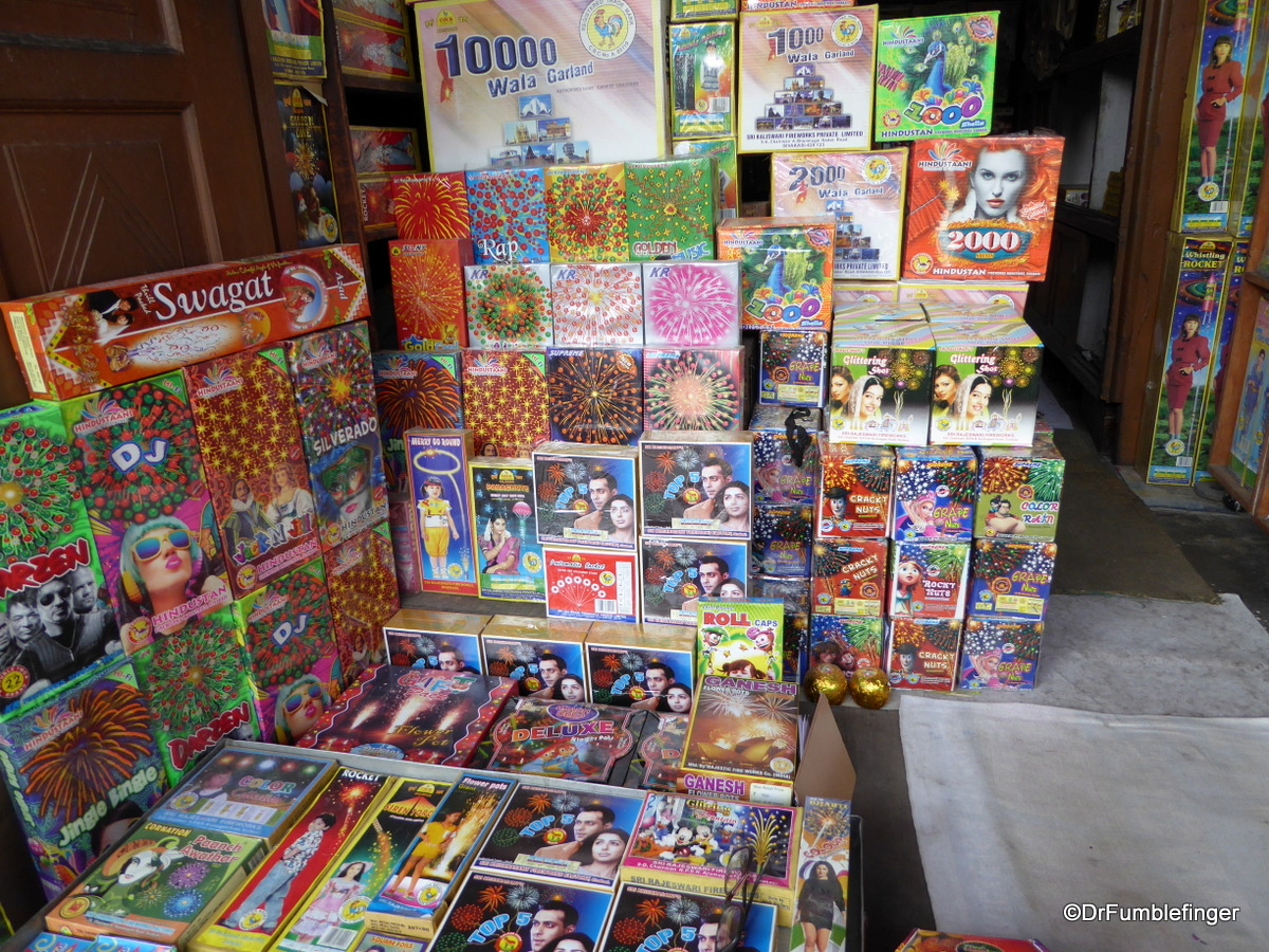 Fireworks for sale, Chandi Chowk Market