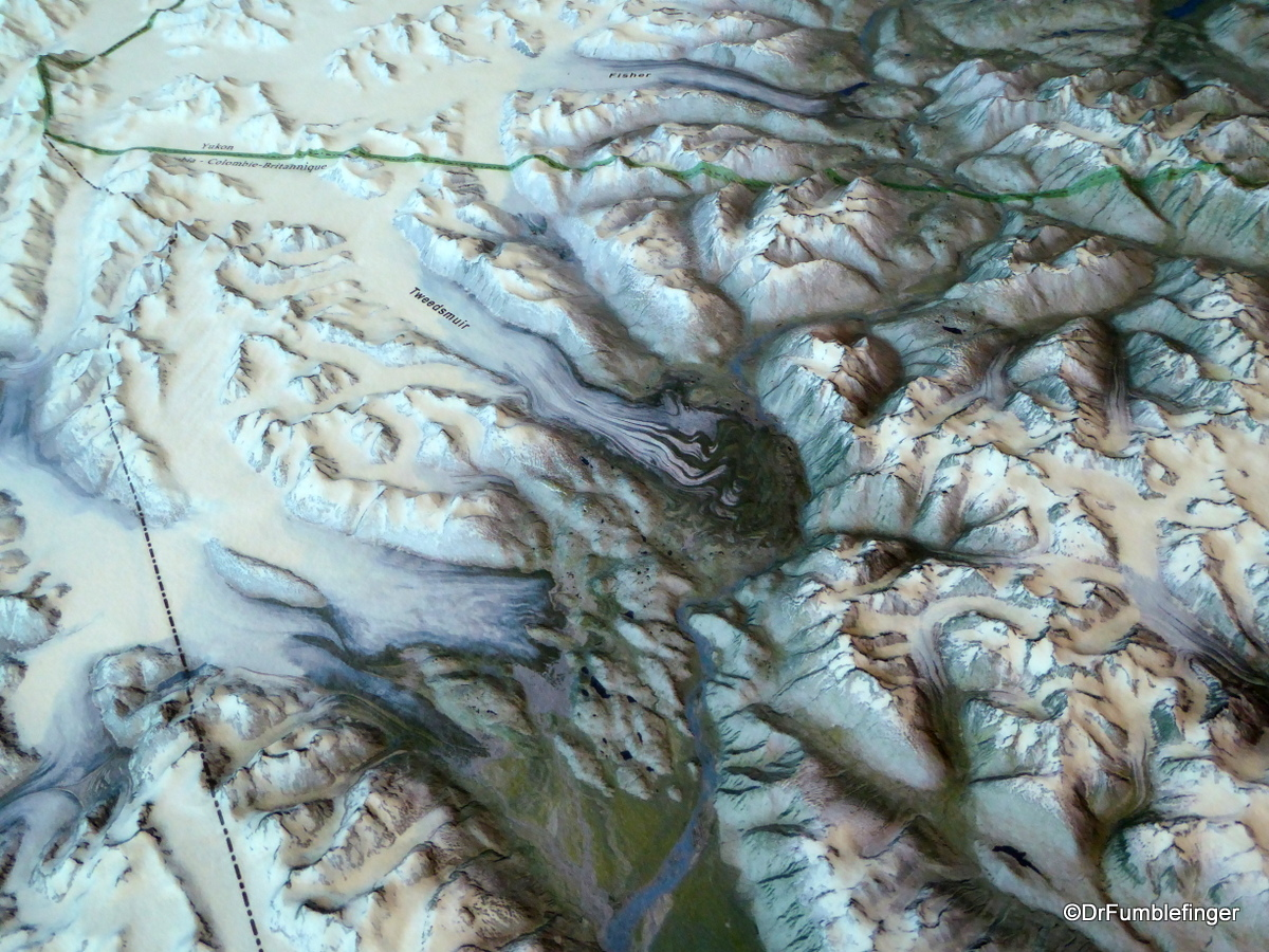 3D topographic map of Kluane National Park