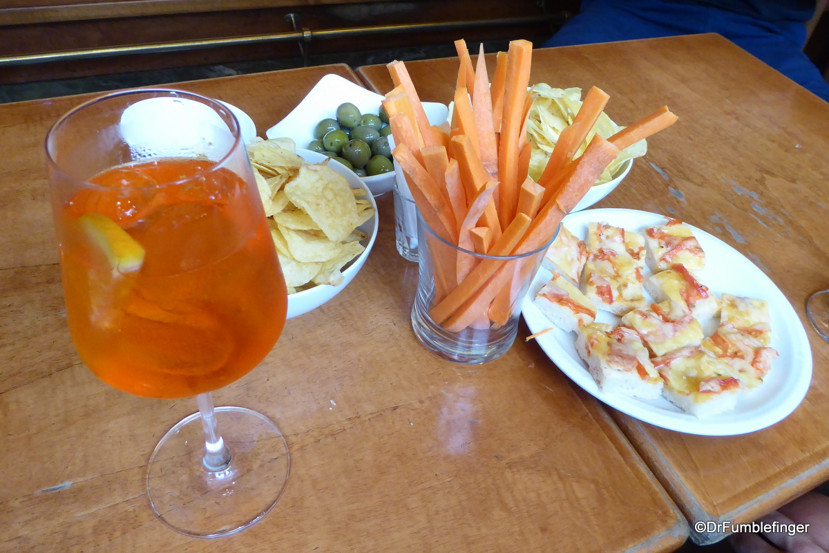 "A ""Spritz"" and snacks, Bar Ted One Cafe"