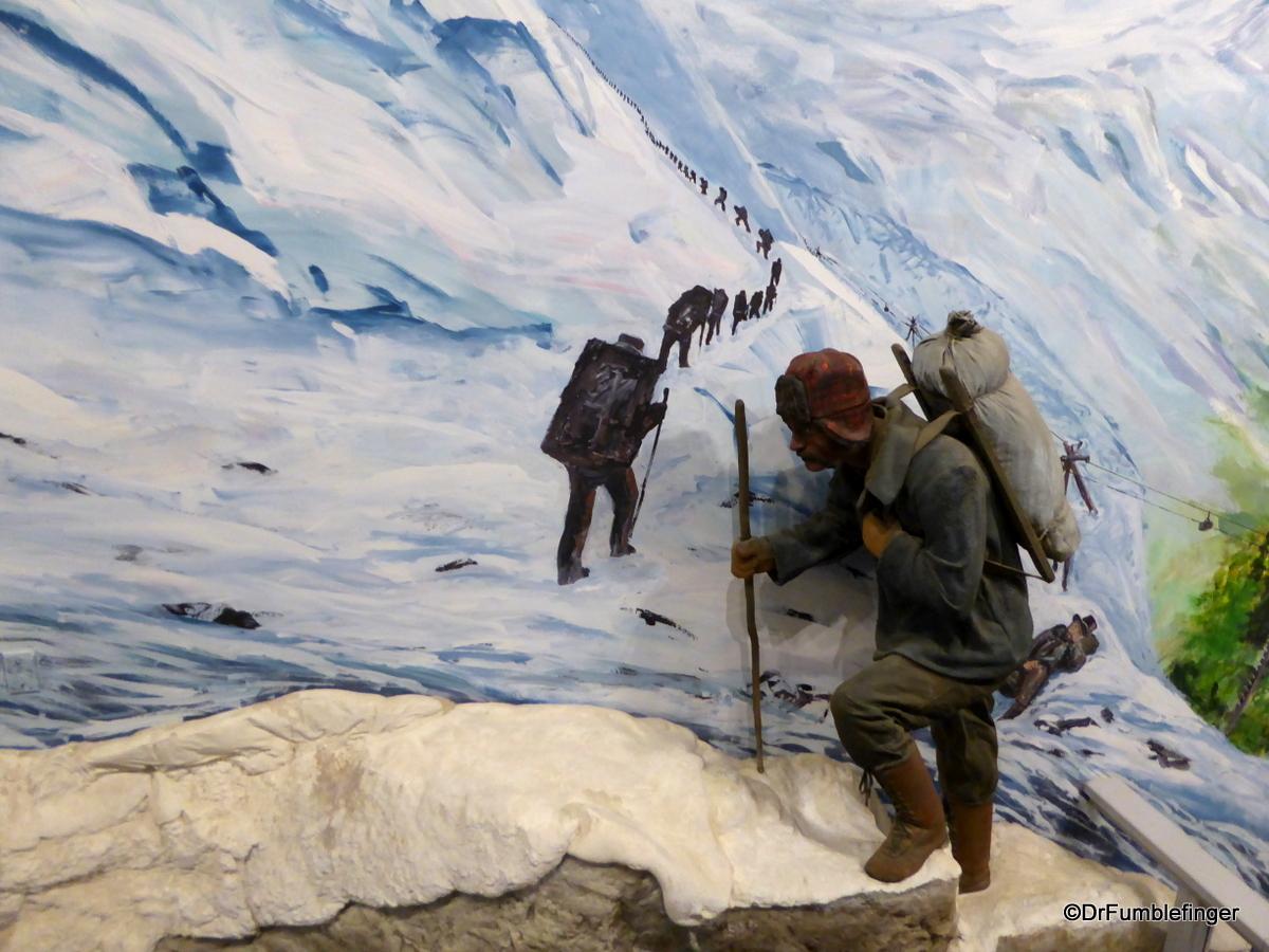 Diorama of the Chilkoot Pass, Yukon Transporation Museum