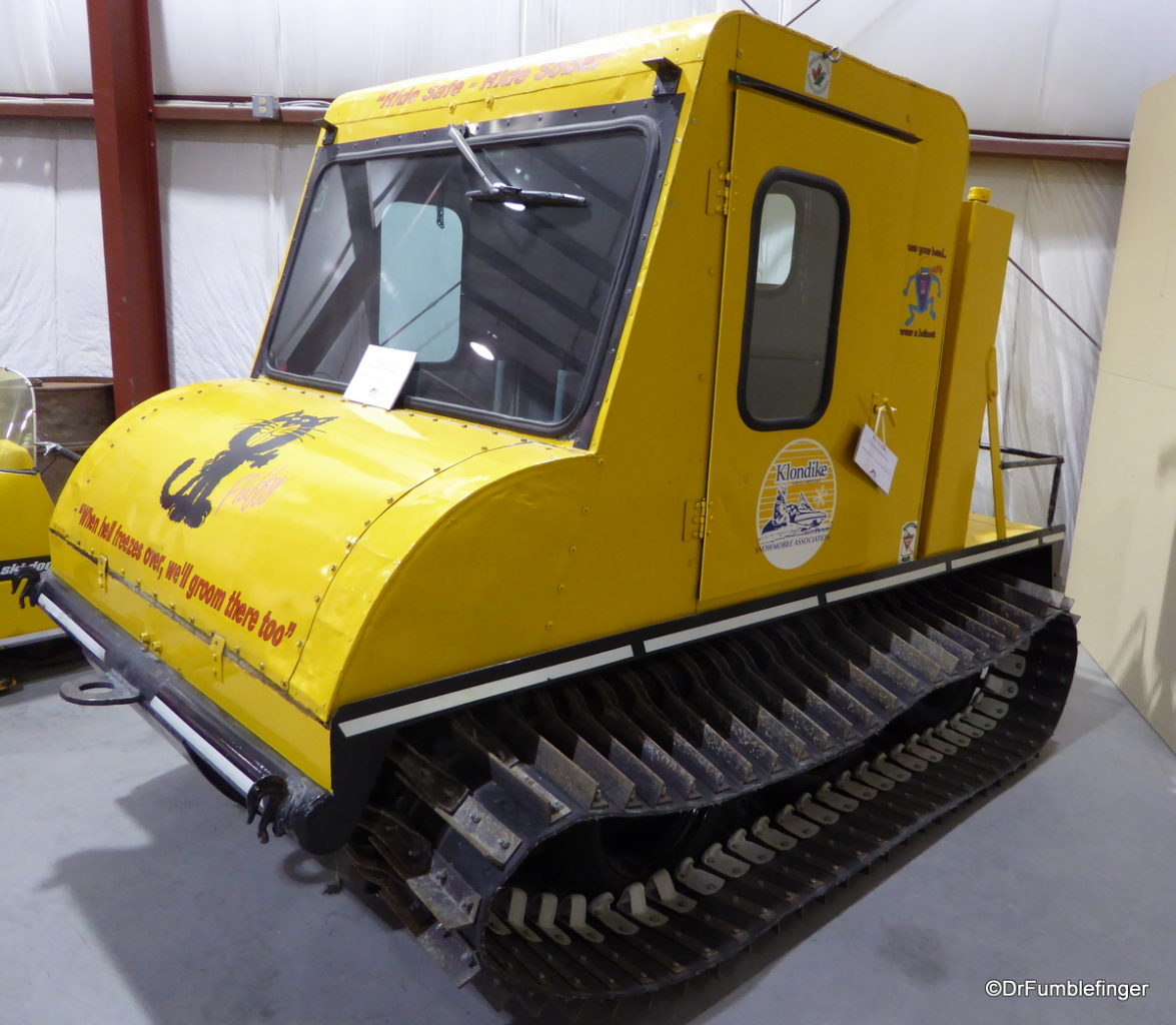 Bombardier Snow Coach, Yukon Transporation Museum. The father of the modern snow-mobile